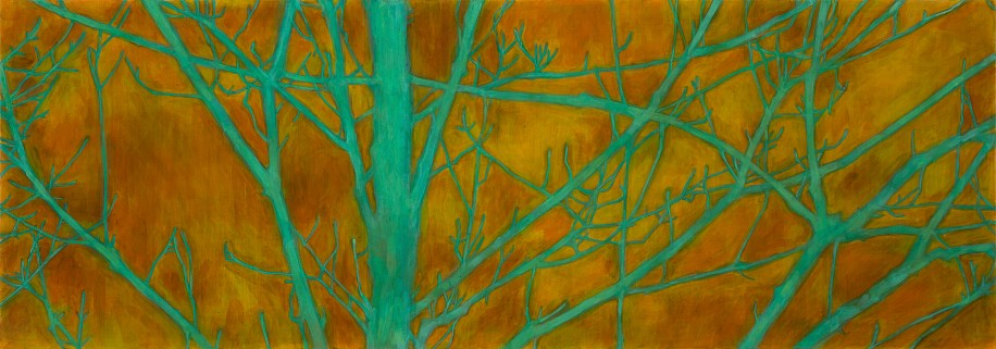 TRINE BUMILLER, TREE OF STANDARD DEVIATION oil on panel