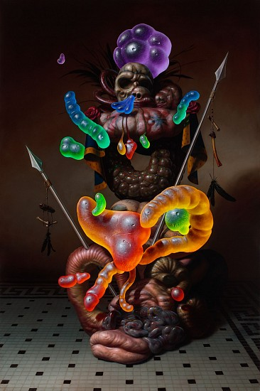 CHRISTIAN REX VAN MINNEN, COAT OF ARMS oil on linen