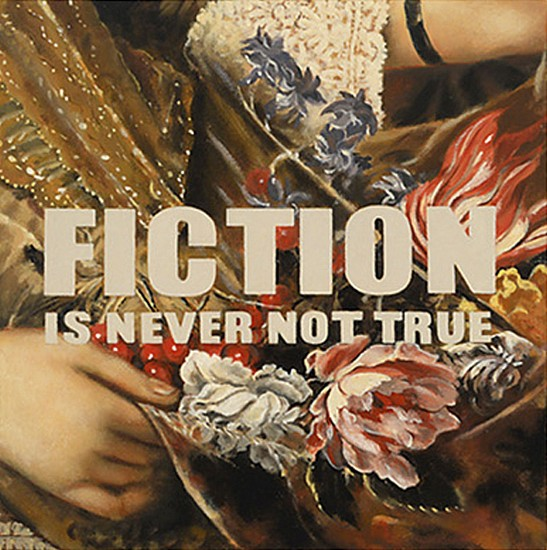JERRY KUNKEL, FICTION IS NEVER NOT TRUE oil on canvas