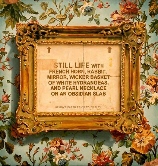 JERRY KUNKEL, STILL LIFE oil on canvas
