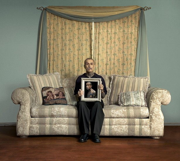 ERIC SCHWARTZ, CHUCO AT HOME (COMPTON, CALIFORNIA) 2/3 pigment print on canvas mounted to Dibond aluminum