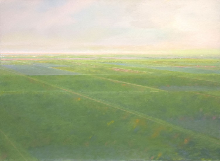 "RECENT ARRIVALS, PETER DI GESU, ""EAST OF THE PEAKS V"" oil on canvas"