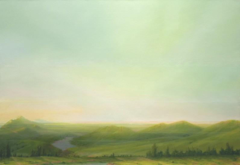 "RECENT ARRIVALS, PETER DI GESU, ""PASS "" oil on canvas"