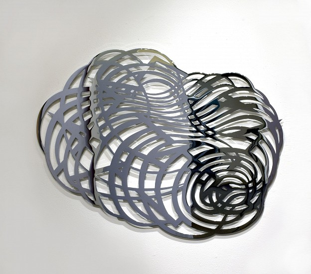 "RECENT ARRIVALS, LINDA FLEMING, ""HEAT LIGHTNING Ed. 3"" chromed steel"