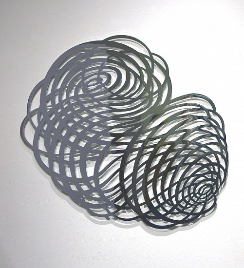 "RECENT ARRIVALS, LINDA FLEMING, ""TEMPEST Ed. 3"" chromed steel"