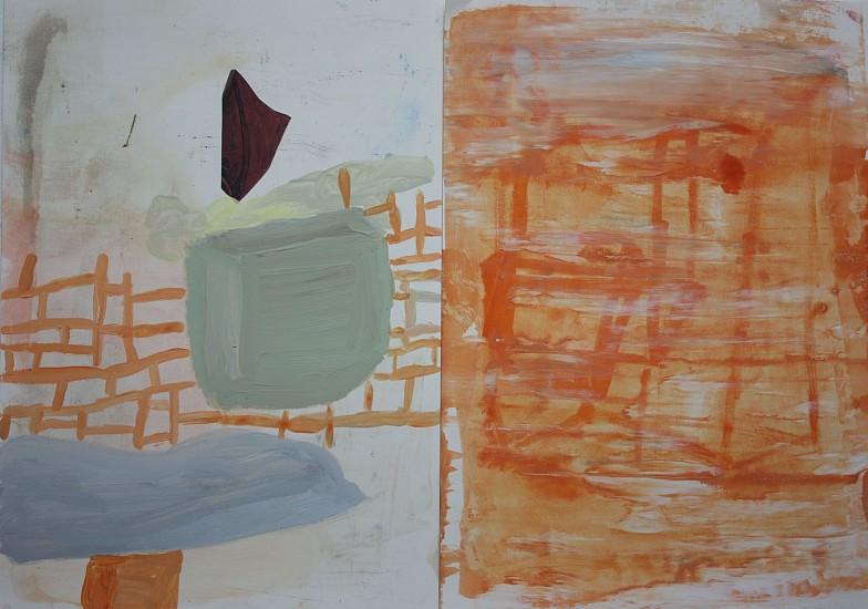 "RECENT ARRIVALS, DEBORAH DANCY, ""ICARUS"" acrylic and collage on paper"
