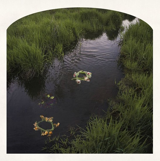 "RECENT ARRIVALS, KAHN+SELESNICK, ""THREE WREATHES IN THE GHENT Ed. 5"" pigment print"