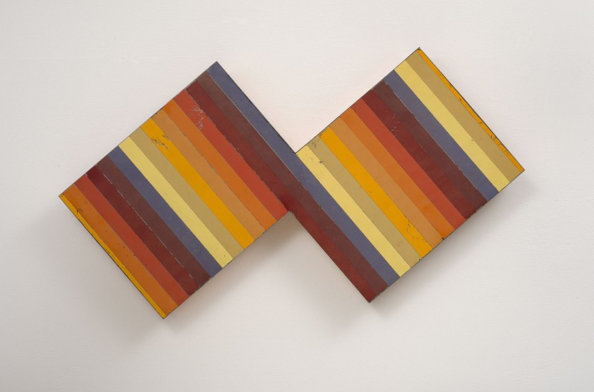 """RECENT ARRIVALS, TED LARSEN,""""LOW ALTITUDE"""" salvage steel, marine-grade plywood, silicone, vulcanized rubber, hardware."""