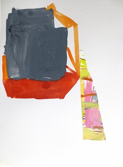 "RECENT ARRIVALS, DEBORAH DANCY, ""MAIDEN VOYAGE"" acrylic and collage on paper"