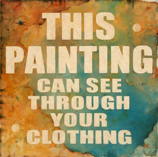 "RECENT ARRIVALS, JERRY KUNKEL, ""SELF DECLARATIVE #1 ""Non-Passive'"" oil on canvas"