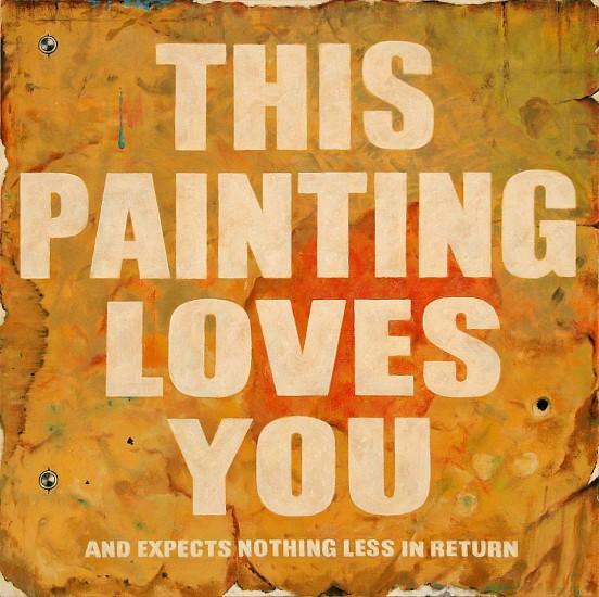 "RECENT ARRIVALS, JERRY KUNKEL, ""SELF DECLARATIVE #2 ""Non-Passive'"" oil on canvas"