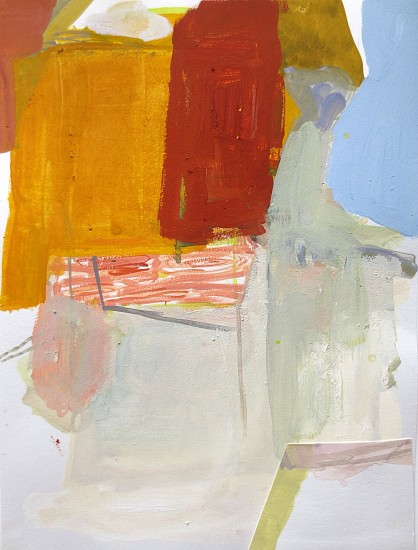 """RECENT ARRIVALS, DEBORAH DANCY, """"TWIN SONNETS"""" acrylic and collage on paper"""