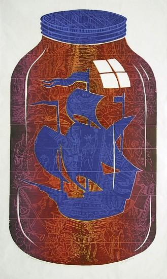 JOHN BUCK, SUBMULOC 15/15 woodblock print