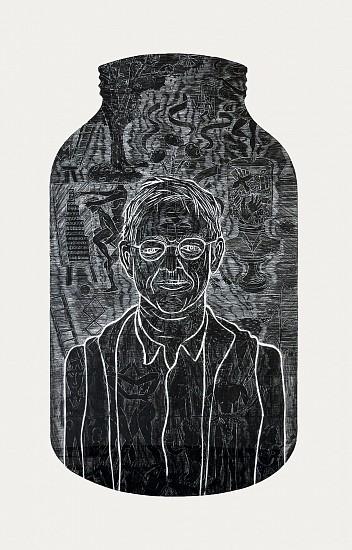 JOHN BUCK, SELF PORTRAIT woodblock rubbing