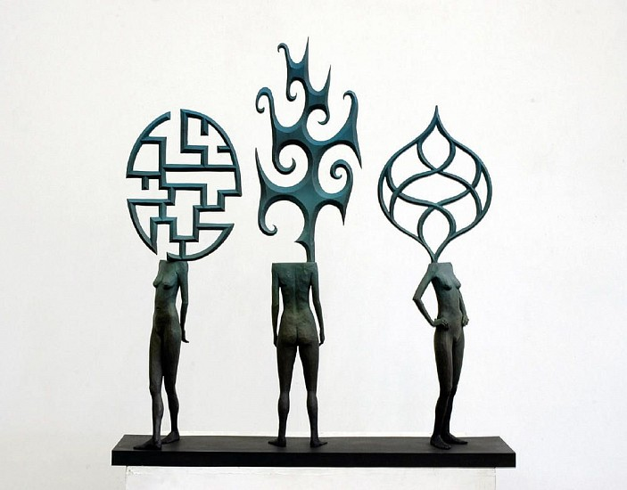 JOHN BUCK, THREE SISTERS Ed. 5 cast bronze