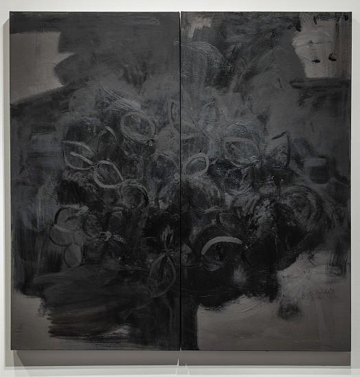 ANA MARIA HERNANDO, MI CASA LEVITA EN SU AROMA (MY HOUSE LEVITATES IN THEIR AROMA) oil on canvas