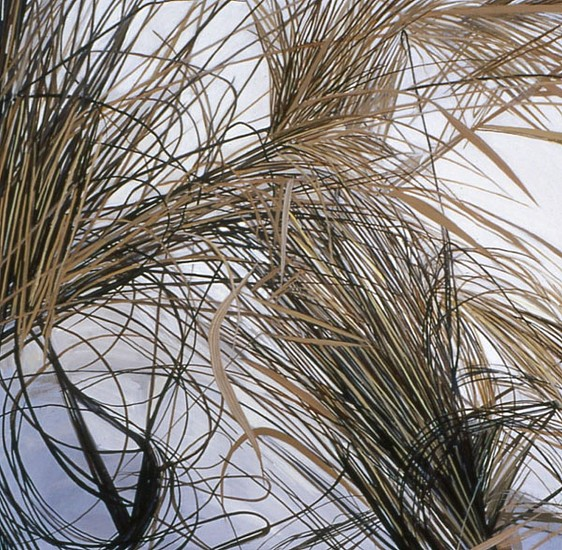 KAREN KITCHEL, DEAD GRASS 6, WINTER oil on panel