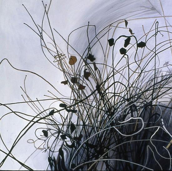 KAREN KITCHEL, DEAD GRASS 7, WINTER oil on panel