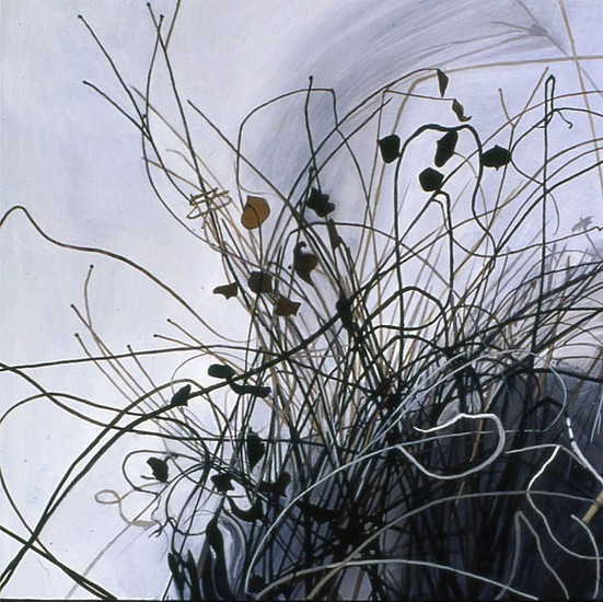 KAREN KITCHEL, DEAD GRASS 7, WINTER oil on panel