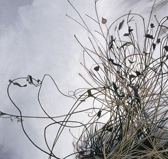 KAREN KITCHEL, DEAD GRASS 9, WINTER oil on panel