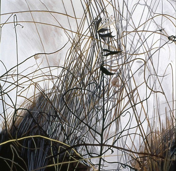 KAREN KITCHEL, DEAD GRASS 10, WINTER oil on panel