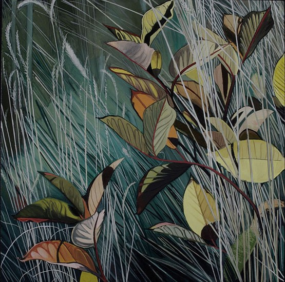 KAREN KITCHEL, DYING GRASS 1, AUTUMN oil on panel