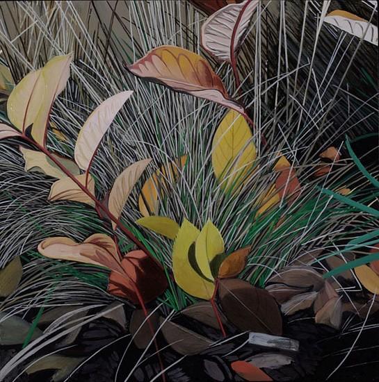 KAREN KITCHEL, DYING GRASS 2, AUTUMN oil on panel