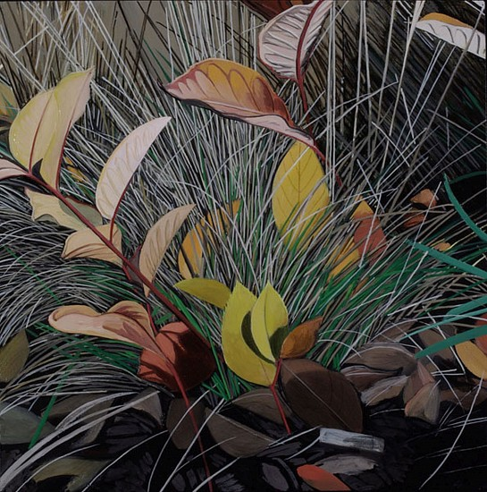KAREN KITCHEL, DYING GRASS 2, AUTUMN oil on panel