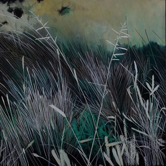 KAREN KITCHEL, DYING GRASS 3, AUTUMN oil on panel