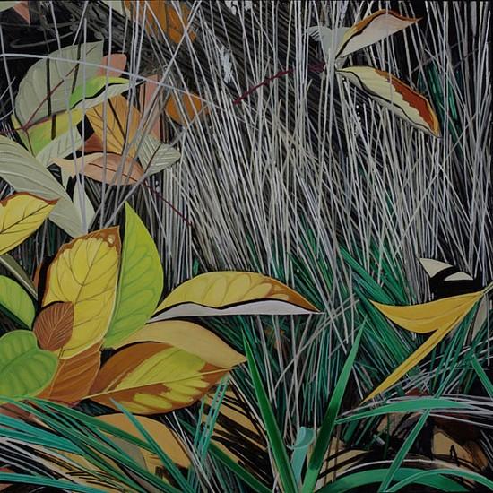 KAREN KITCHEL, DYING GRASS 4, AUTUMN oil on panel