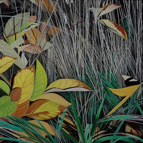 KAREN KITCHEL, DYING GRASS 4, AUTUMN oil on panel
