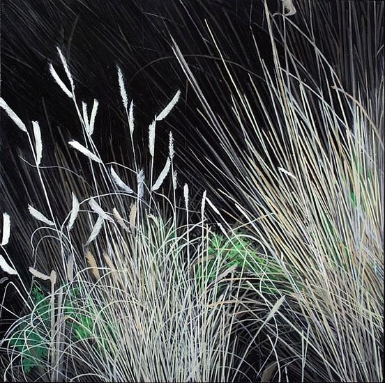 KAREN KITCHEL, DYING GRASS 7, AUTUMN oil on panel