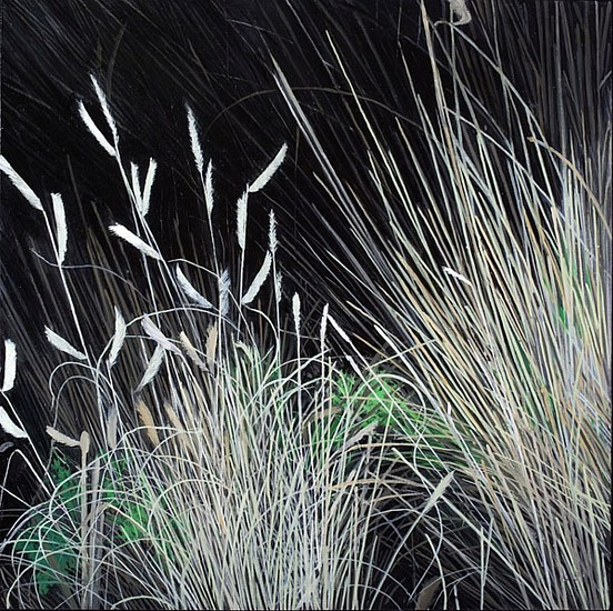 KAREN KITCHEL, DYING GRASS 7, AUTUMN oil on panel