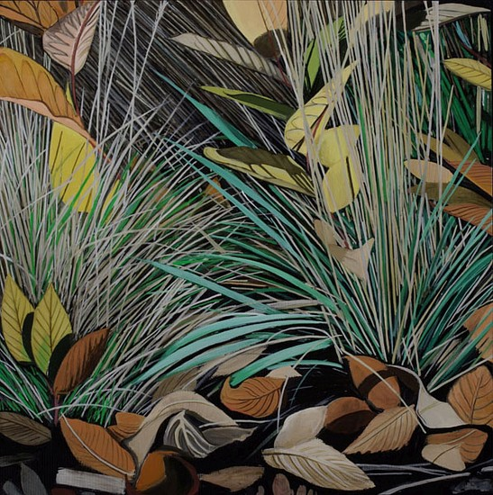KAREN KITCHEL, DYING GRASS 9, AUTUMN oil on panel