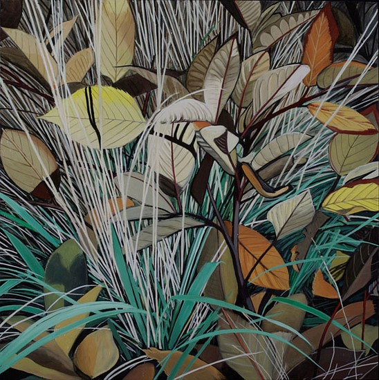KAREN KITCHEL, DYING GRASS 10, AUTUMN oil on panel