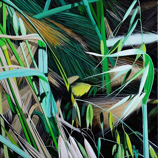 KAREN KITCHEL, MATURE GRASS 1, SUMMER oil on panel