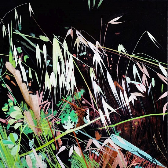 KAREN KITCHEL, MATURE GRASS 2, SUMMER oil on panel