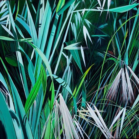 KAREN KITCHEL, MATURE GRASS 3, SUMMER oil on panel
