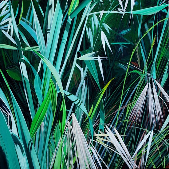 KAREN KITCHEL, MATURE GRASS 3, SUMMER oil on panel