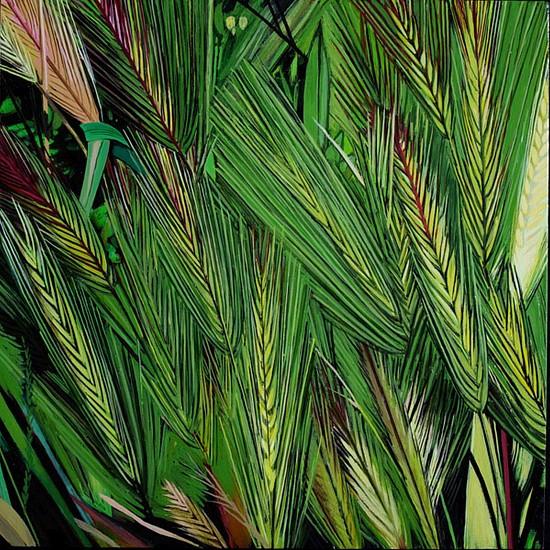 KAREN KITCHEL, MATURE GRASS 4, SUMMER oil on panel