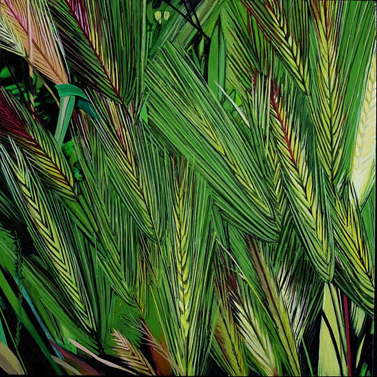 KAREN KITCHEL, MATURE GRASS 4, SUMMER oil on panel