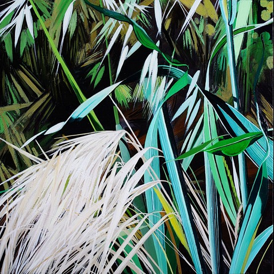 KAREN KITCHEL, MATURE GRASS 5, SUMMER oil on panel
