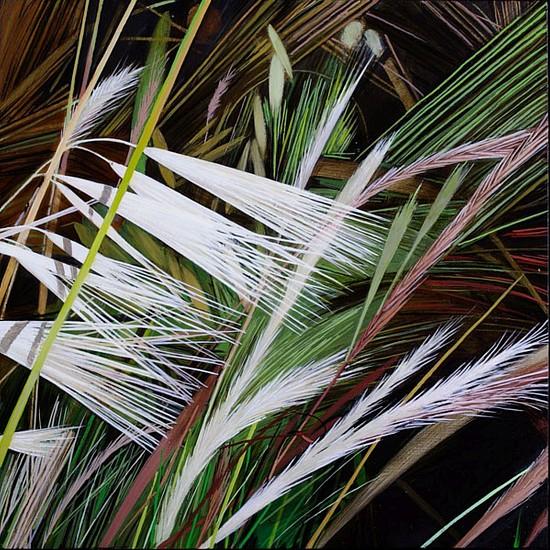 KAREN KITCHEL, MATURE GRASS 6, SUMMER oil on panel