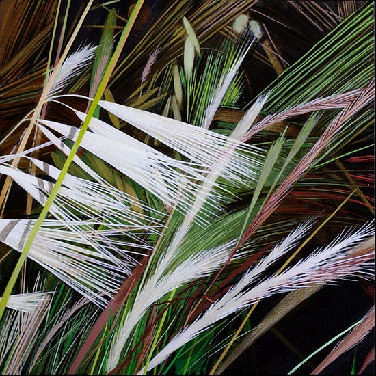 KAREN KITCHEL, MATURE GRASS 6, SUMMER oil on panel