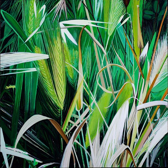 KAREN KITCHEL, MATURE GRASS 7, SUMMER oil on panel