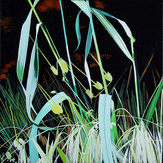 KAREN KITCHEL, MATURE GRASS 8, SUMMER oil on panel