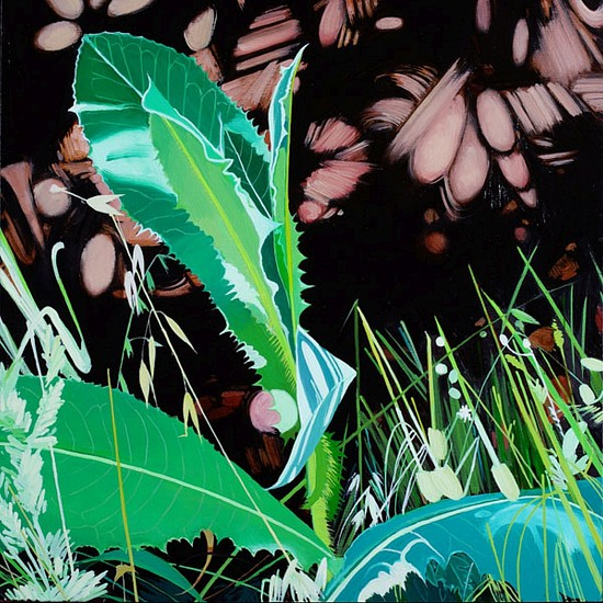 KAREN KITCHEL, MATURE GRASS 10, SUMMER oil on panel