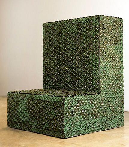 KIM DICKEY, STEP aluminum, glazed terracotta, silicone, rubber, grommets