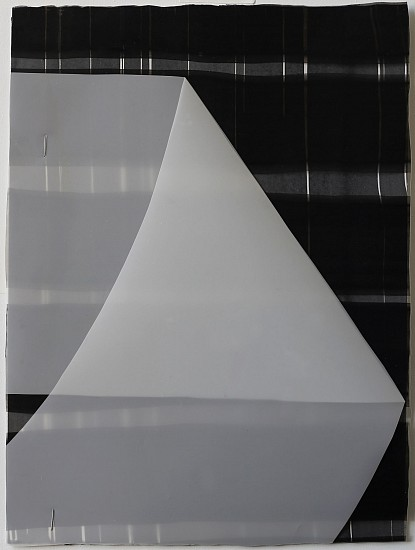 KATE PETLEY, FOLD #2 acrylic, ink, film and staples on paper