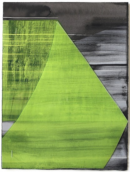 KATE PETLEY, FOLD #3 acrylic, ink, film and staples on paper